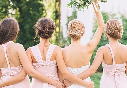 """Would you hire a Professional Bridesmaid for your wedding?""  SHEER LUXE"