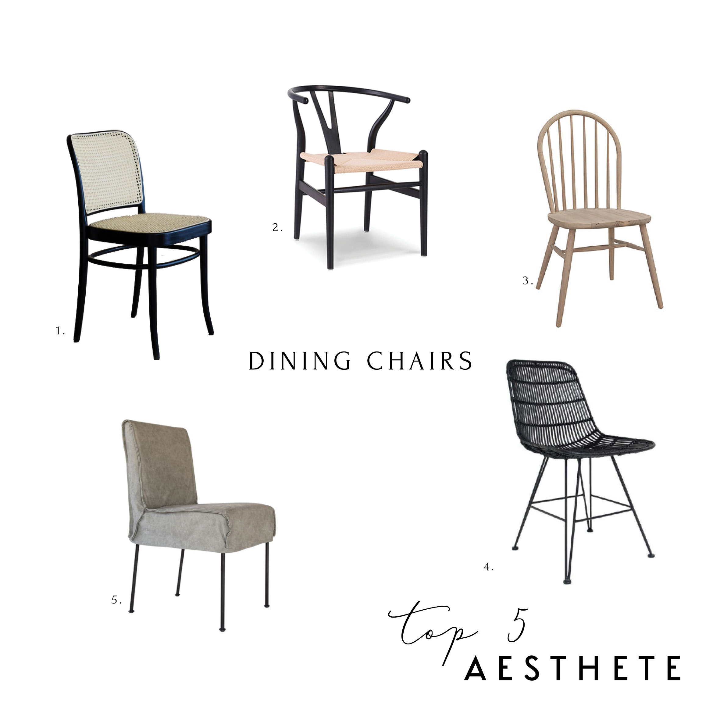 Top 5 Dining Chairs Aesthete