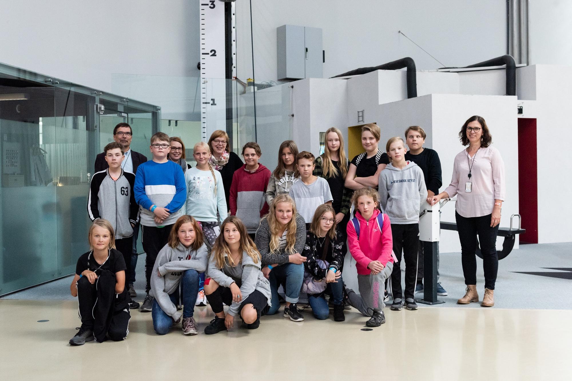 STEKin Tiedekummiluokka Loviisasta vieraili Heurekassa syykuussa 2018.