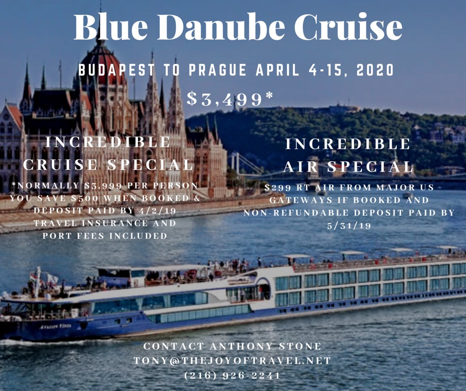 Cruise April 2020.2020 Blue Danube Cruise April The Joy Of Travel