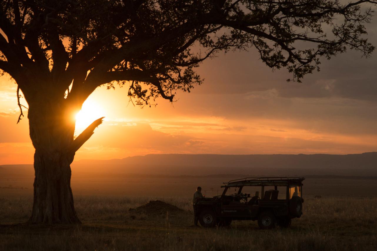 Sunset at Masai Mara National Reserve, Kenya