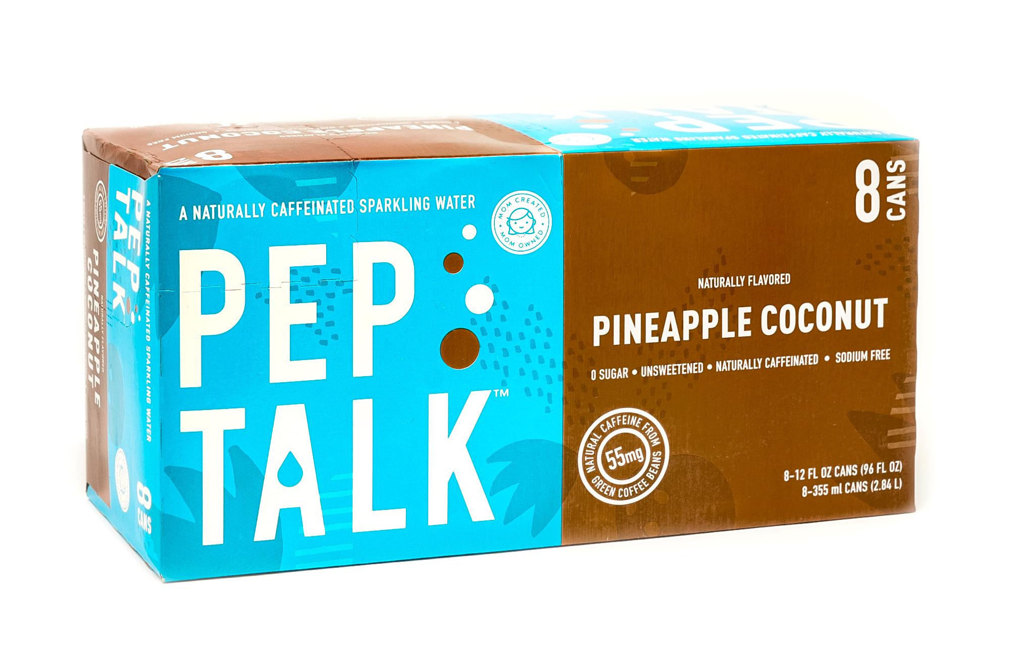 Peptalk 8 Pack Pineapple Coconut on White Angled.jpg