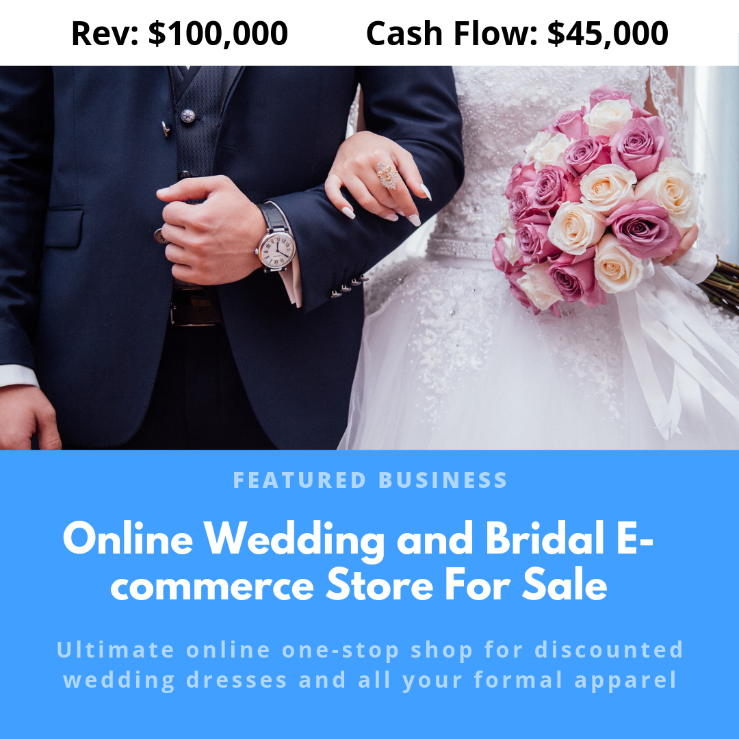 Online Wedding and Bridal Ecommerce Store For Sale