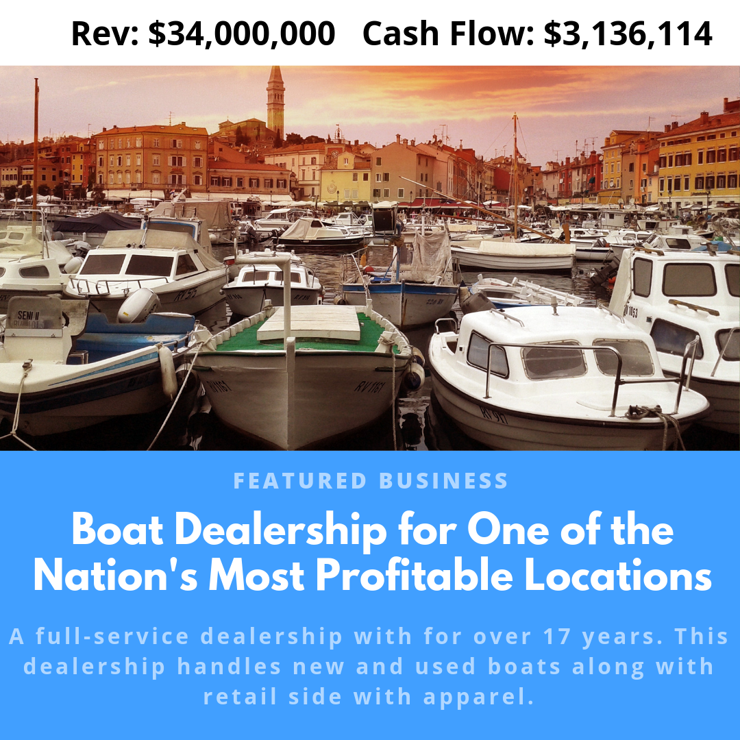 Boat Dealership for one of the nations most profitable locations
