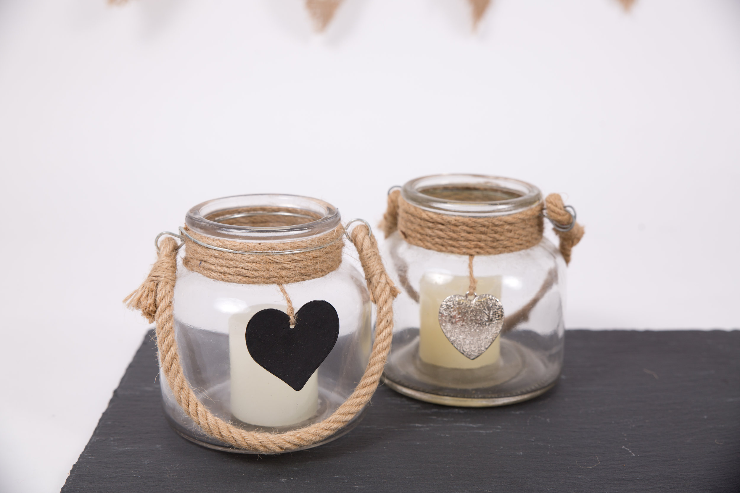 Rope Jar Candle Holders (CPLL19)