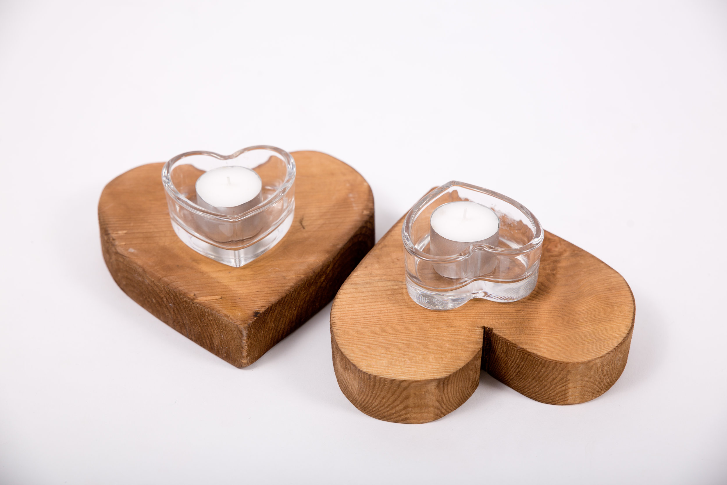 Wooden Hearts - Heart Candle Holders (CPLL18)