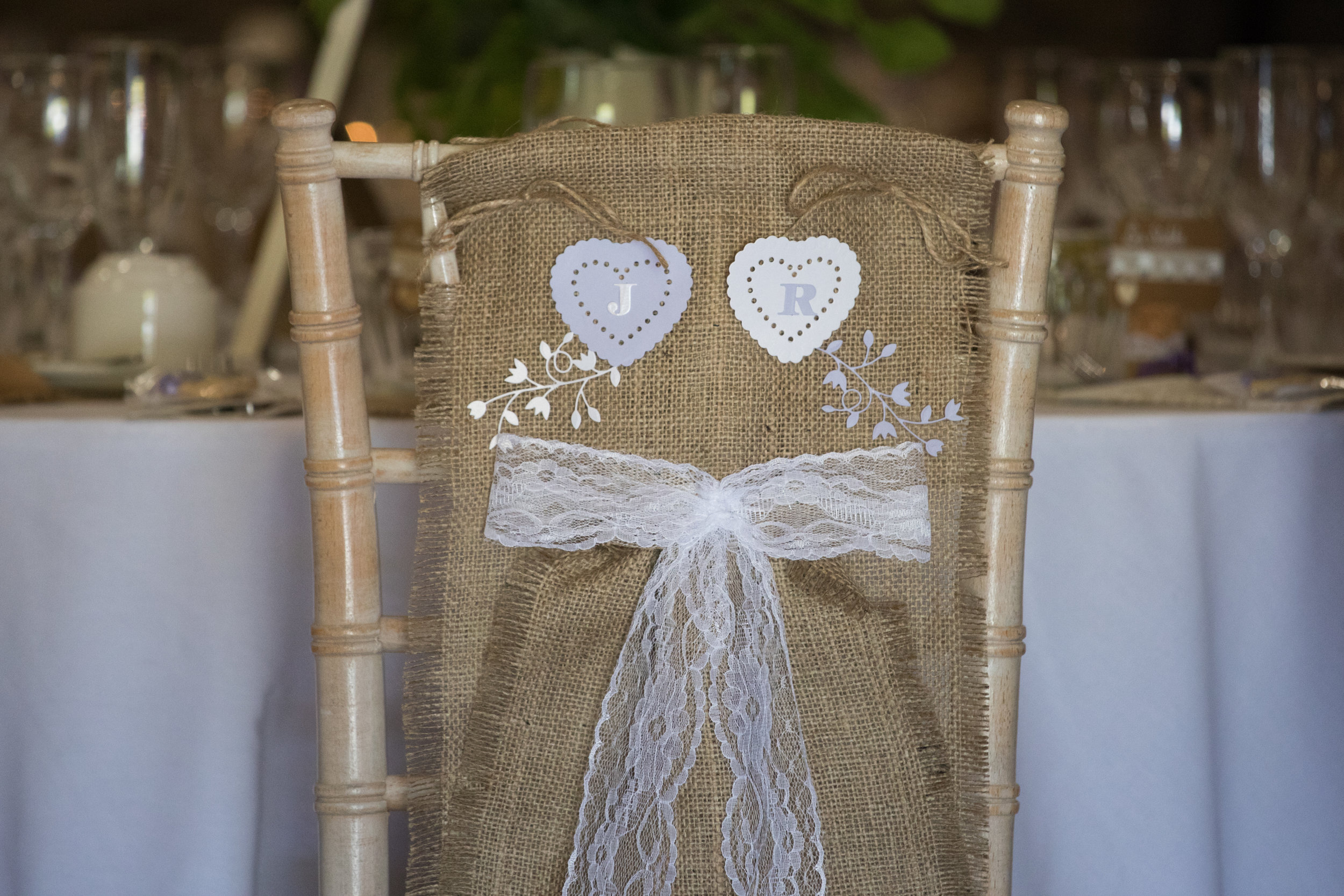Long Hessian Chair Decoration