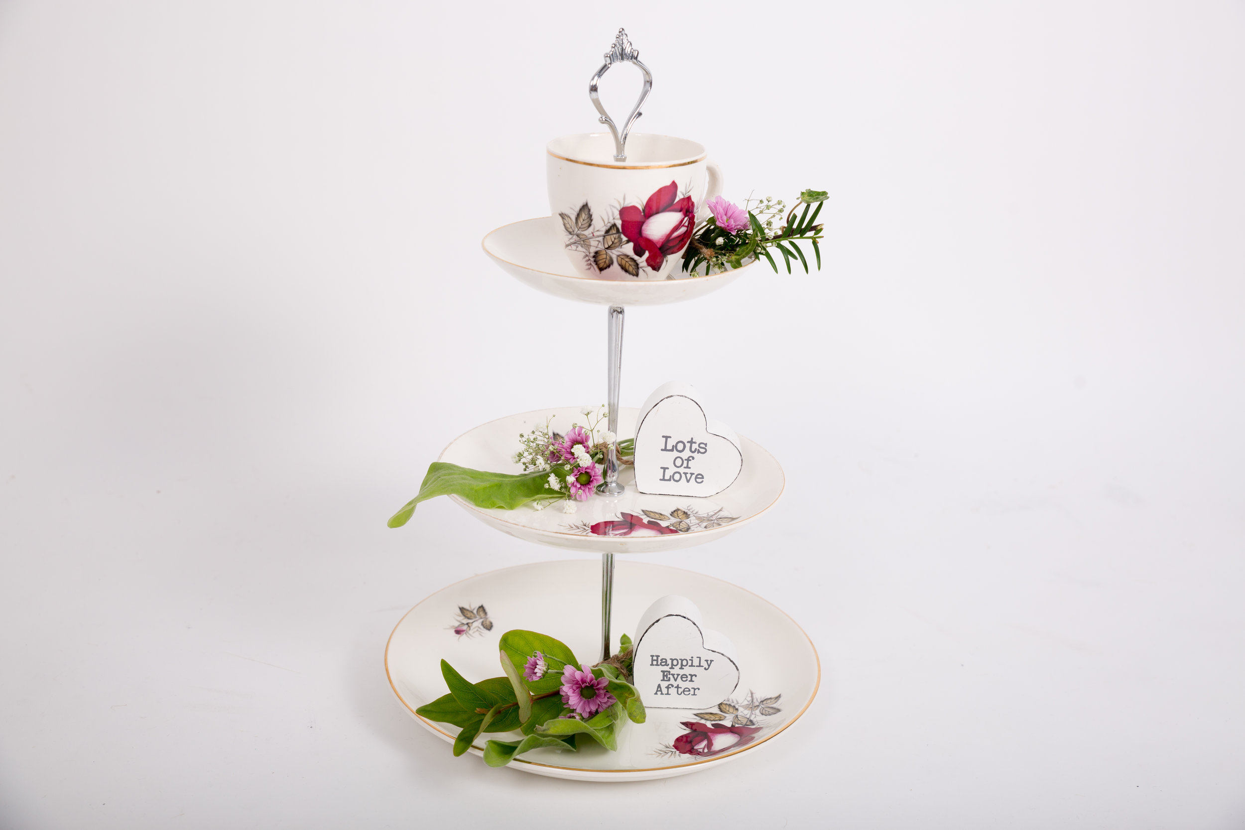 Cake Stand with Cup & Saucer Top (VCLL01)