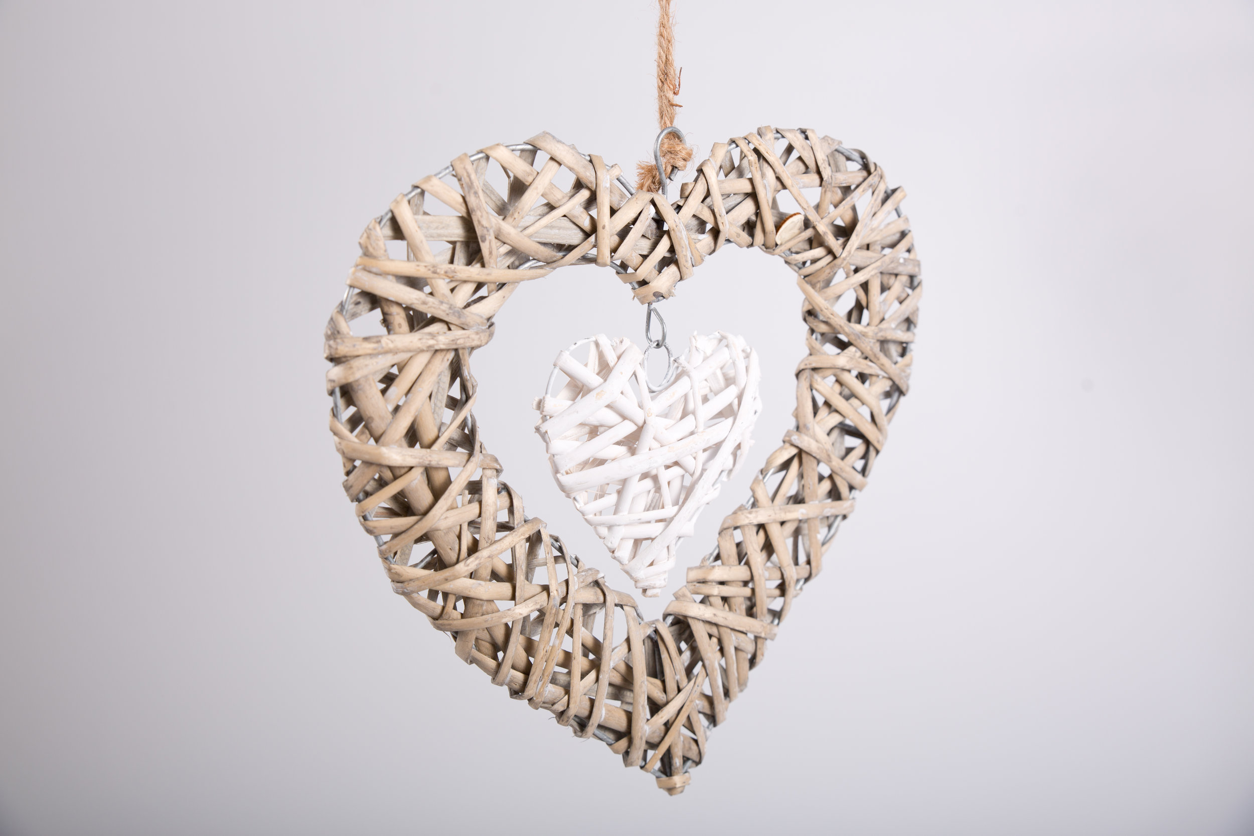 Wooden Wicker Hearts (RDLL03)