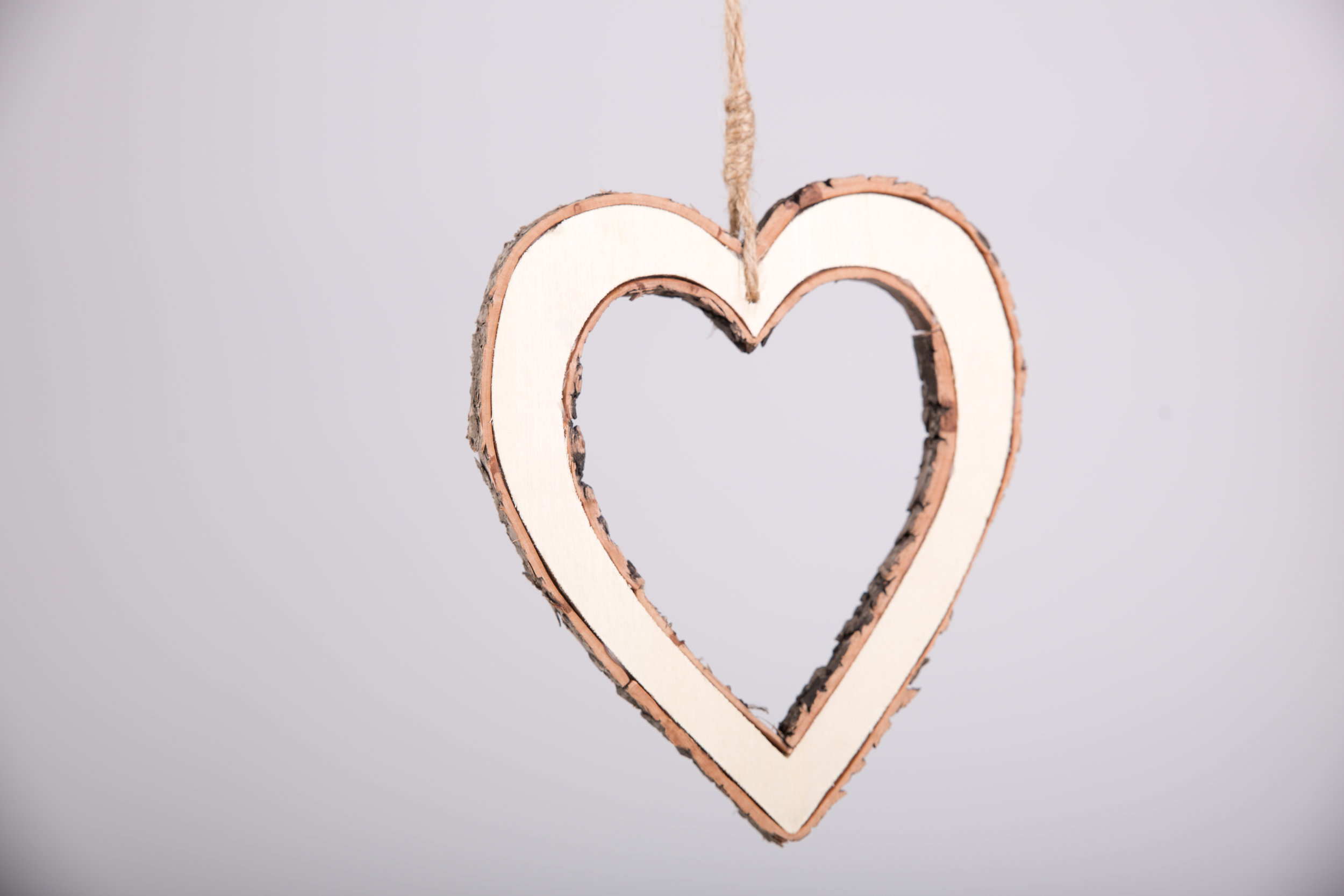 Small Wooden Bark Heart (RDLL11)
