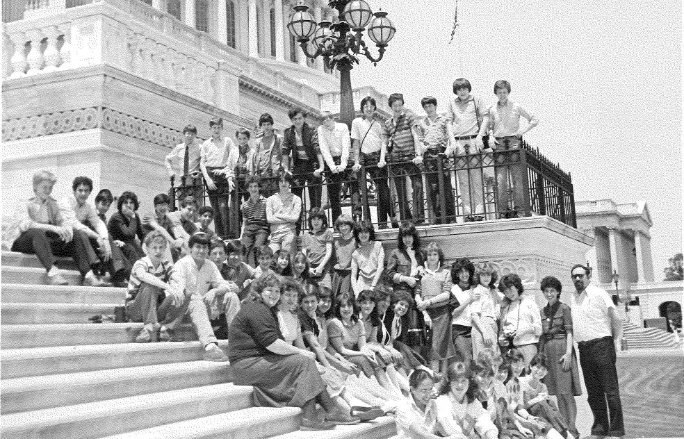 SAR students on the Capitol building steps