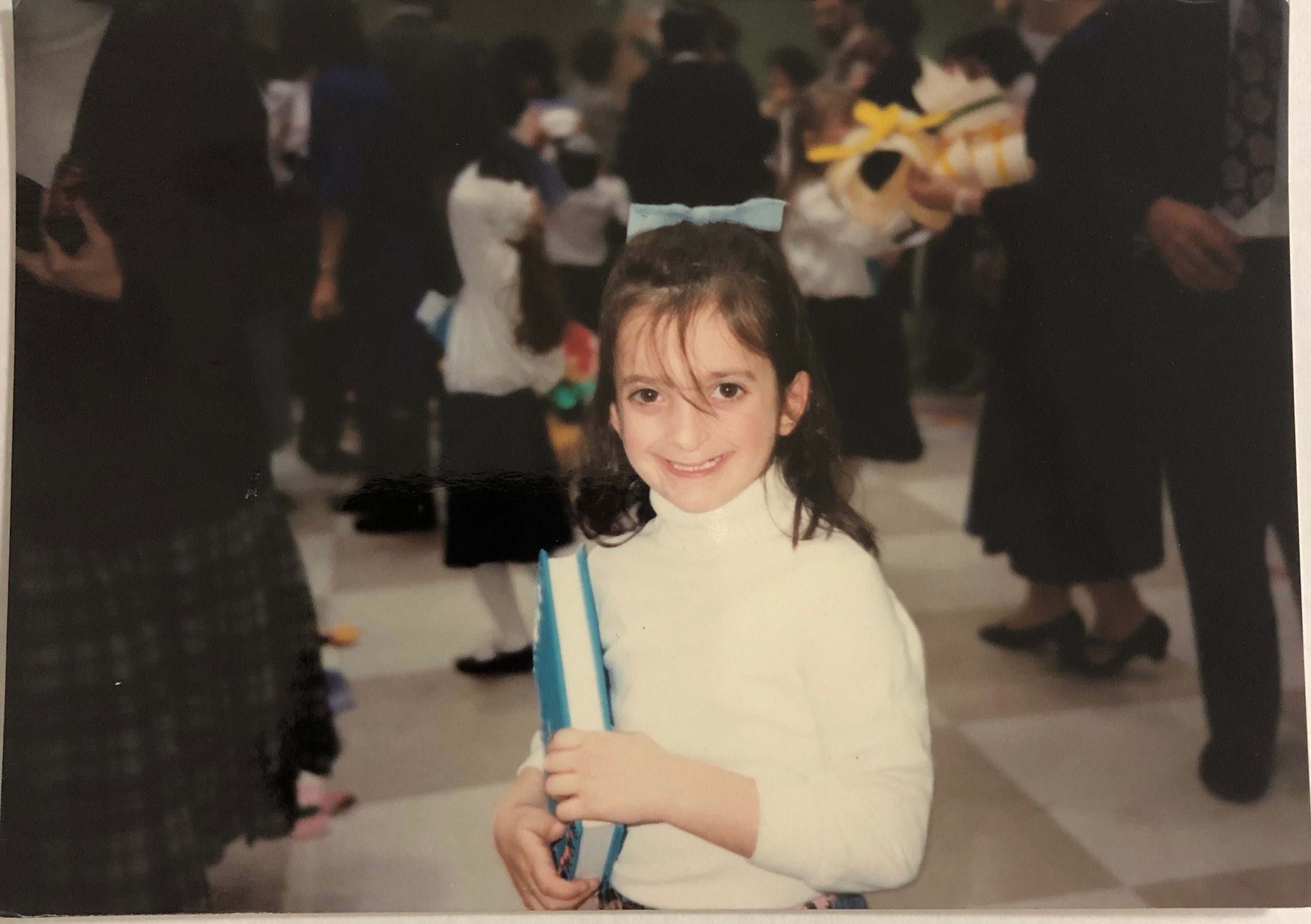 Sarah (Trachtman) Blechner '96, pictured at her Siddur Play