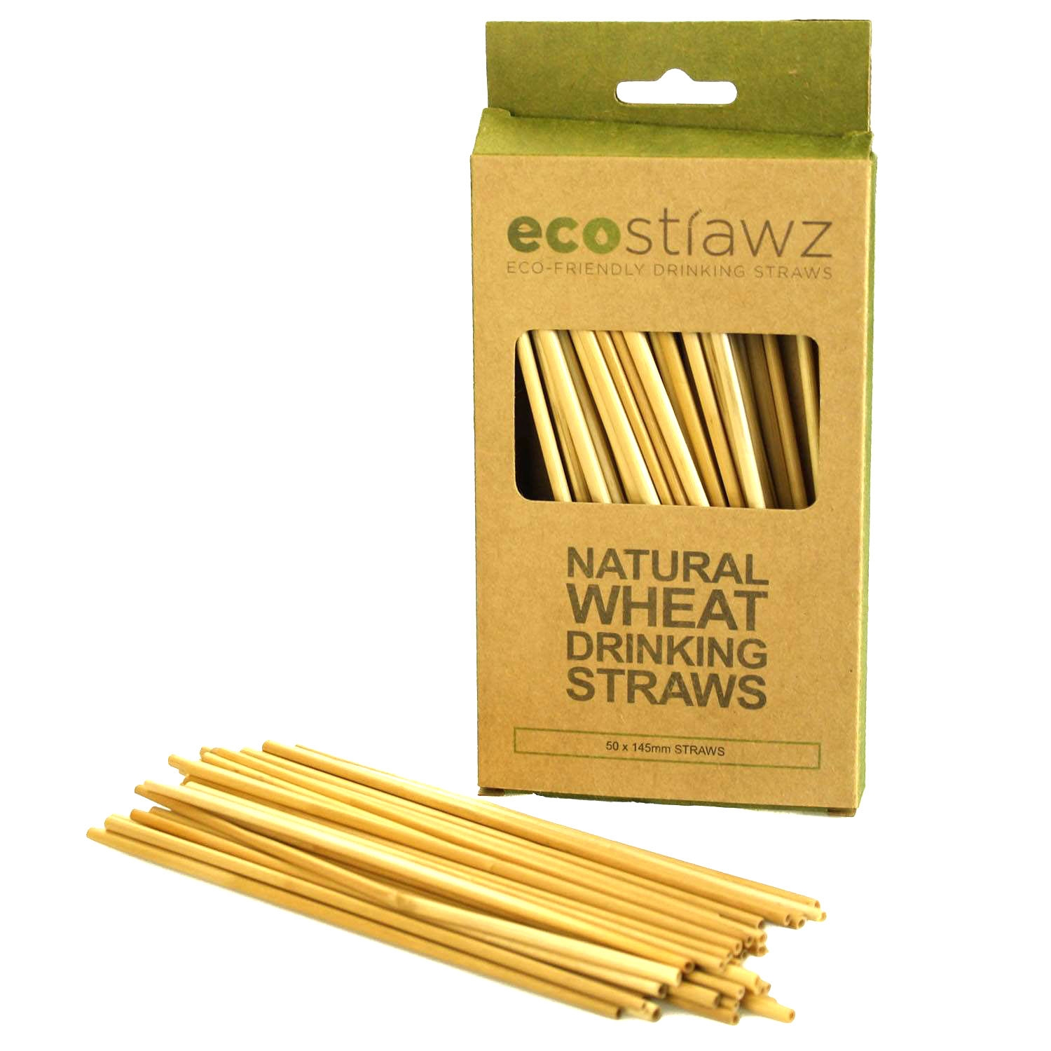 Natural wheat drinking straws