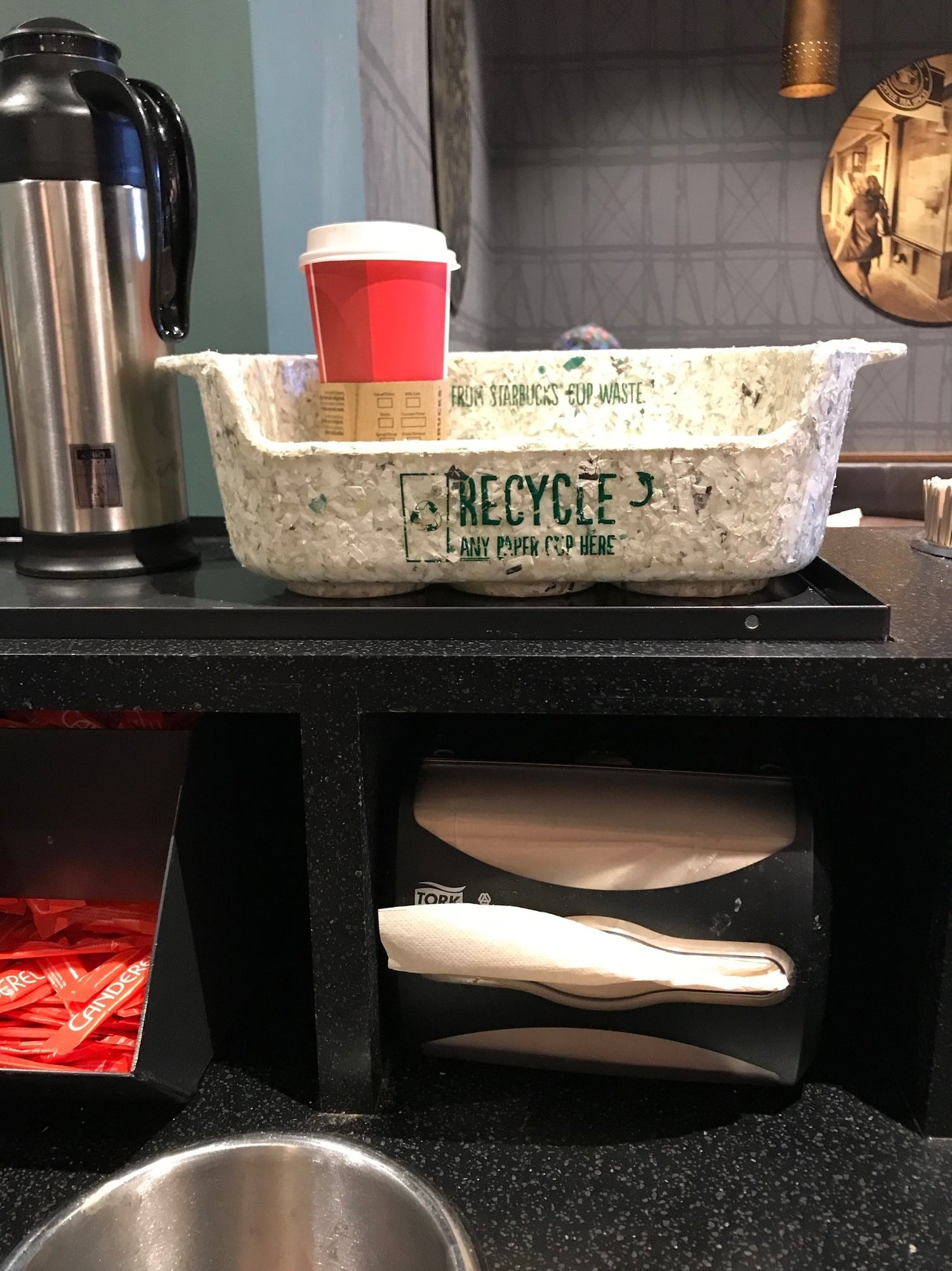 recycle in Starbucks