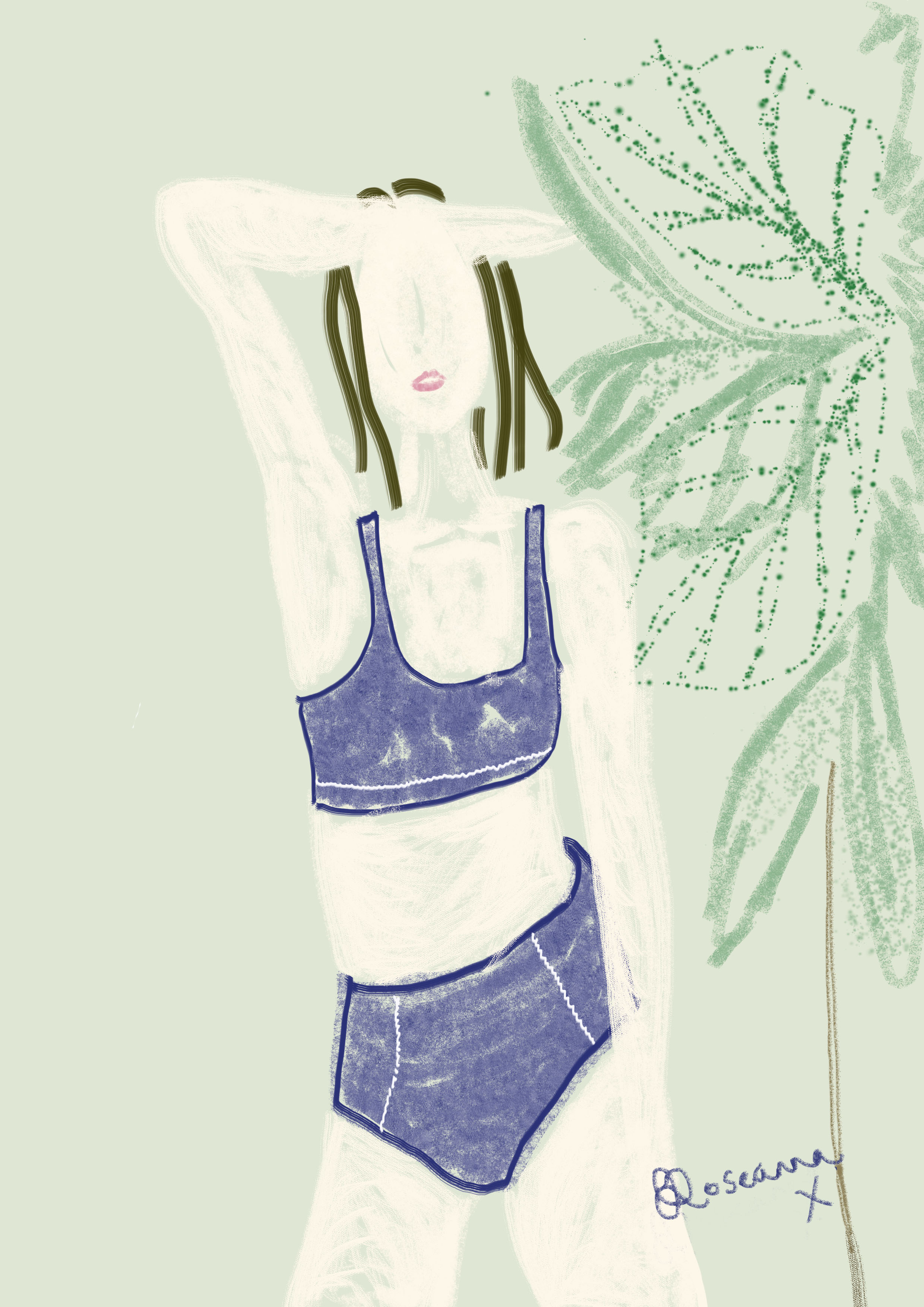 Stay Wild Swim Drawing by Roseanna Crawford
