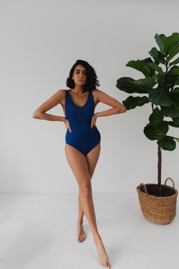 Wanderlust One Piece in Navy