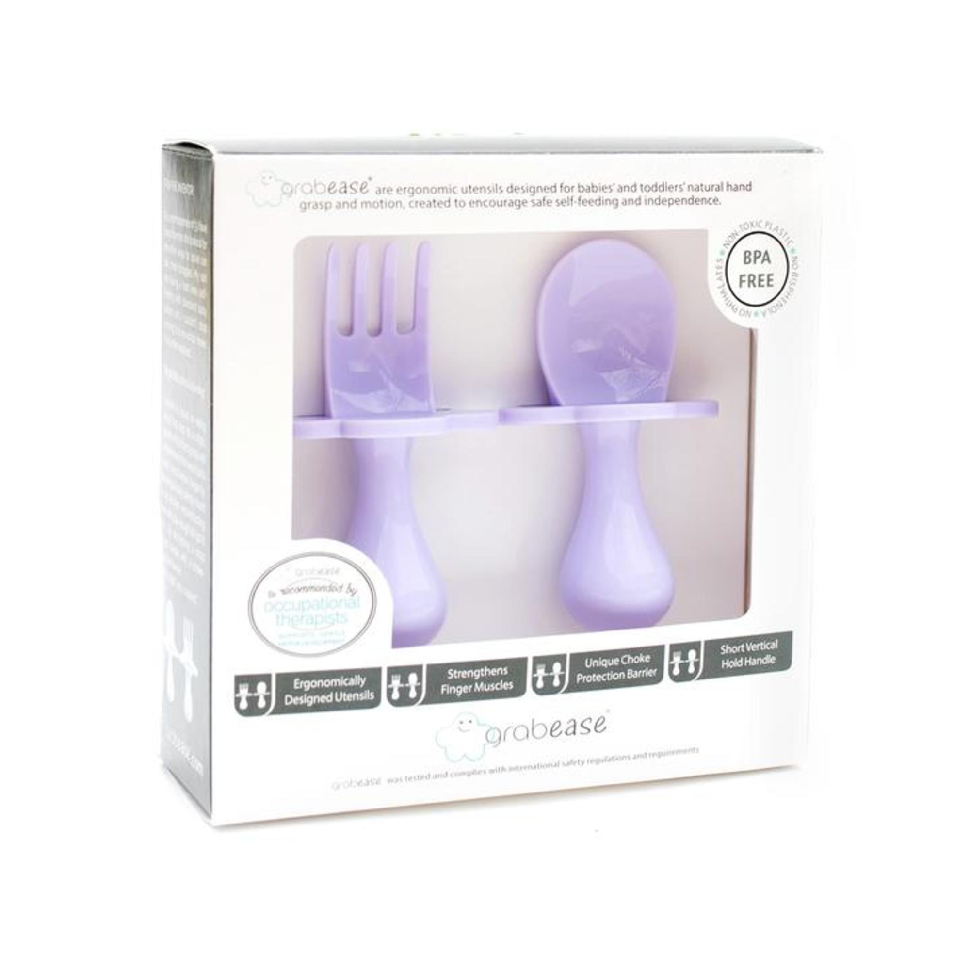 Grabease first self-feeding utensils packaging