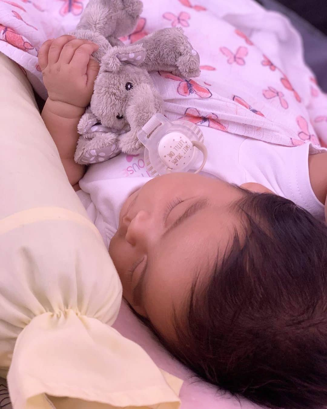 Philippines   Our little one so attached to her Ella Elephant Paci-Plushie