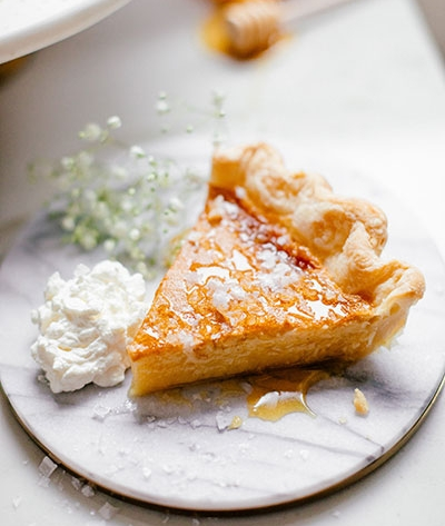 Traditional Milk and Honey Pie -