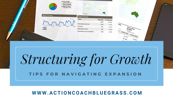 Get Actionable Advice on our Business Blog - Structuring your company for growth means a few things: Learning how to focus on the right things at the right time; Understanding how growth is likely to impact your company; and Identifying the leadership needs of your much larger organization.