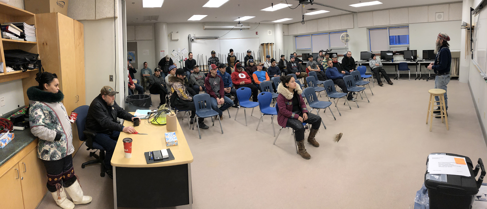 First year class of 33 apprentices and our Sanatuliqsarvik faculty at orientation.