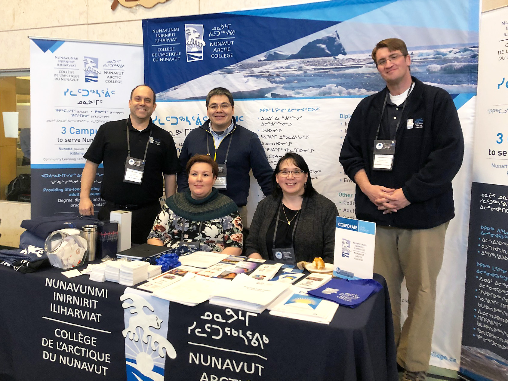 0154d5d52 Nunavut Arctic College's Executive team at the 20th Anniversary of the  Kitikmeot Trade Show