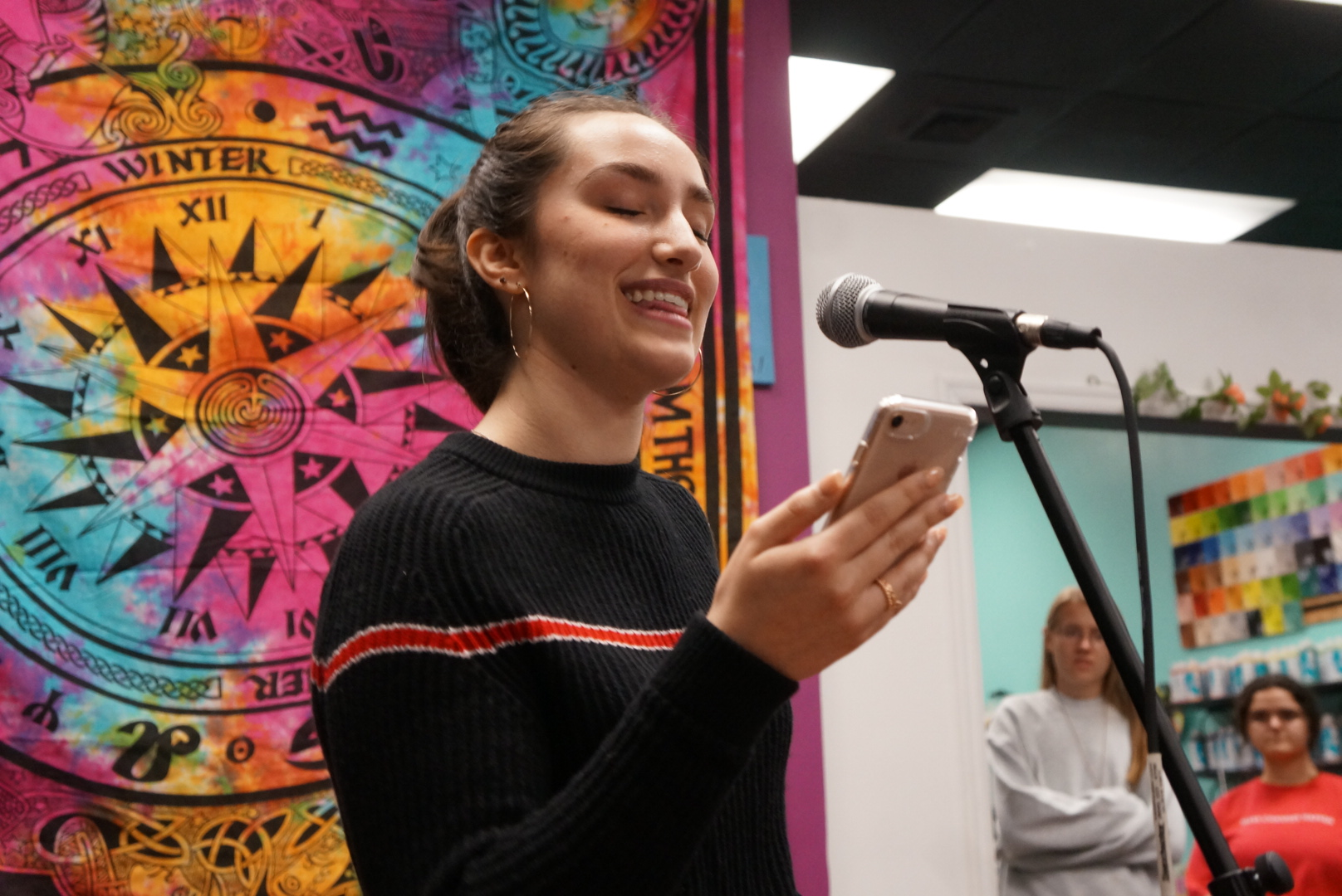 Madison Crane performed spoken word and the event