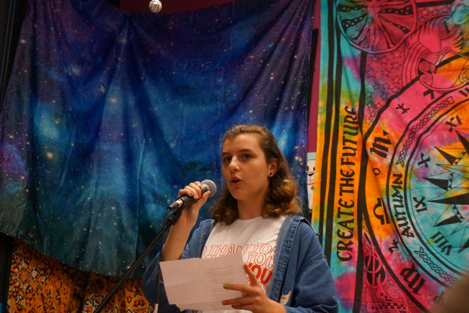 Risa Liebmann performed her spoken word