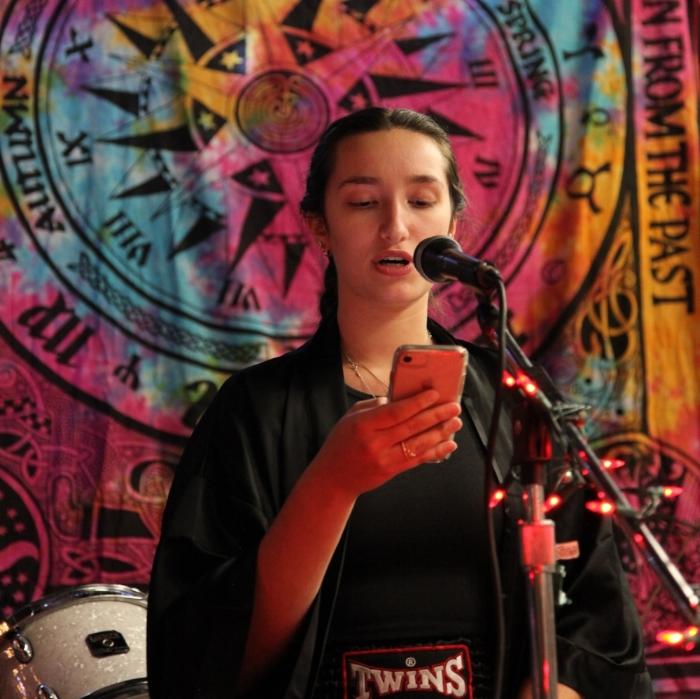 Madison Crane reciting original poetry