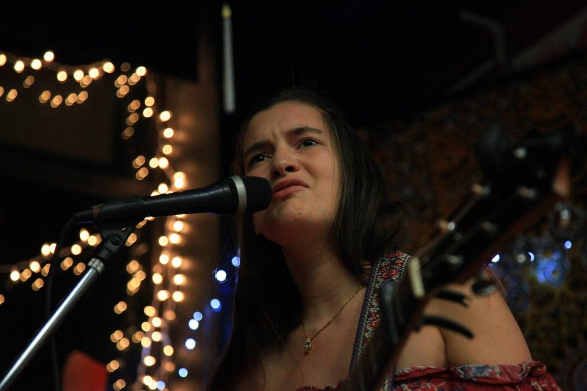 Serena Jade performing original songs