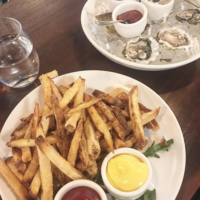 Oysters: good for the body French fries: good for the soul 😎