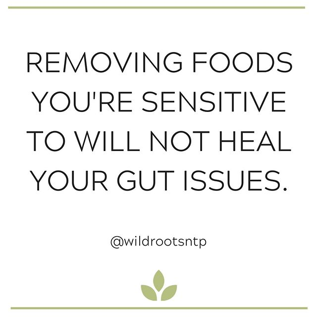 Food sensitivities are ONE piece of the puzzle - they are merely symptoms of some kind of imbalance in your gastrointestinal system. Taking a food sensitivity test and removing the highly sensitive foods might make you feel better initially, but without addressing your gut issues, this will just lead your body to start rejecting other foods. Heavy restriction long term will cause stress on the body and mind and will only worsen your gut issues (among many others). • The good news is, by removing those triggering foods AND working to heal your gut issues (aka the issues that caused said food sensitivities in the first place), you will be able to reintroduce the foods you removed and your body will be able to handle shifting food sensitivities in the future. • This is why I love my job! True healing means long term satisfaction, peace of mind, and lowered stress. True healing means not having to restrict. True healing means being in tune with your body & personal experience and being able to make sustainable choices to reflect that. ✨
