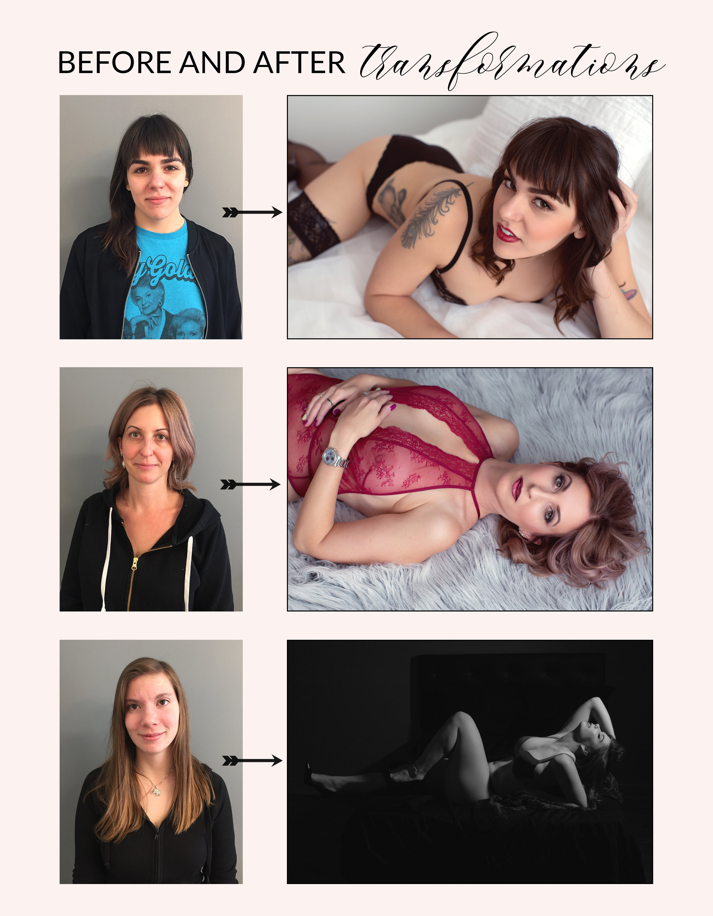 chicago boudoir photography before and after