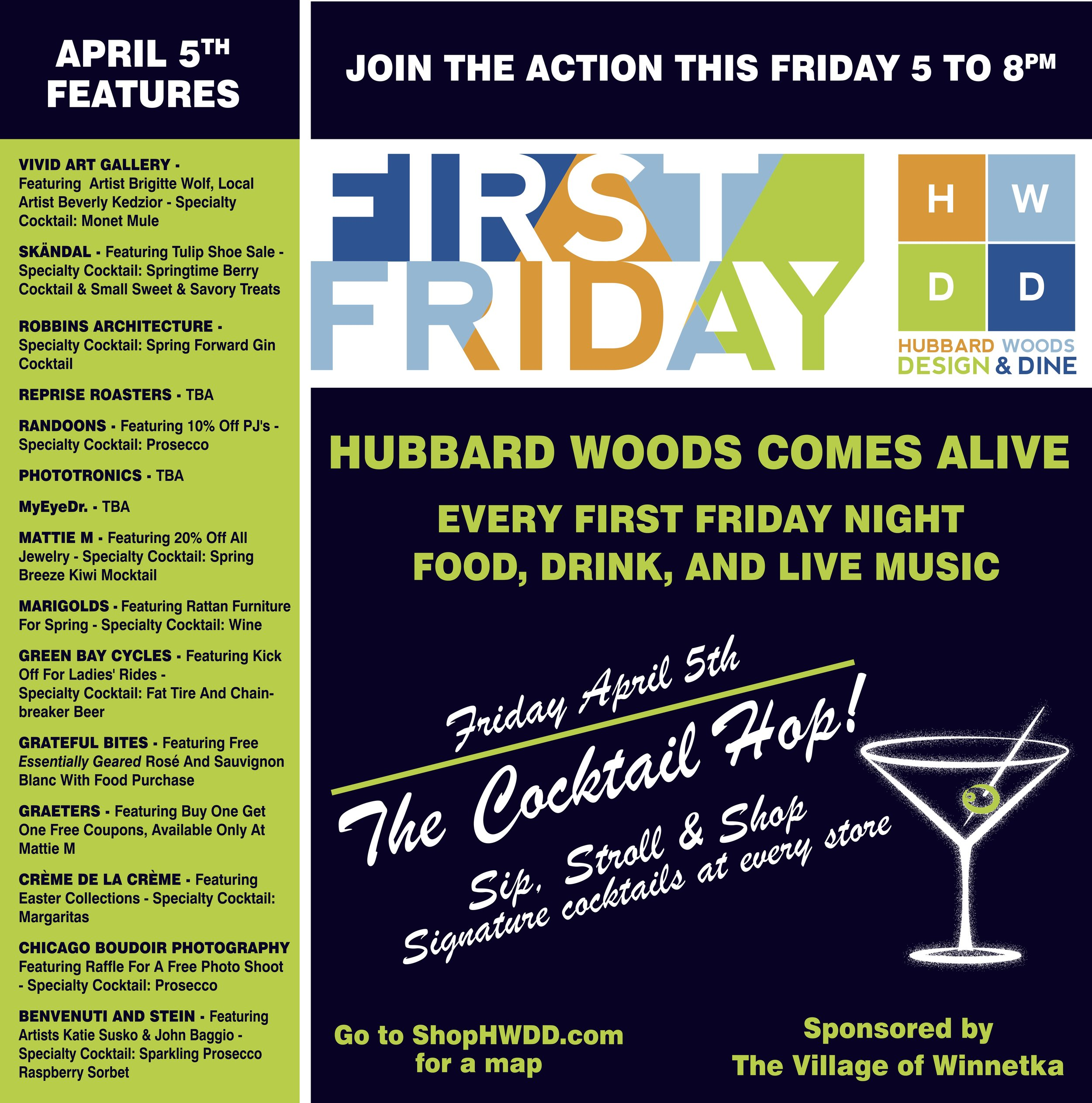 Hubbard Woods First Friday Event