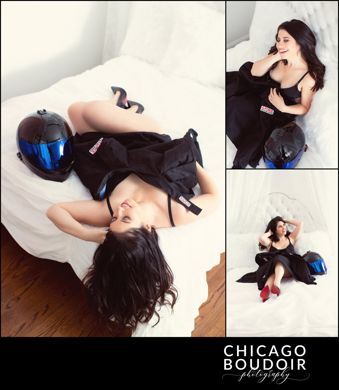 chicago boudoir photography racecar