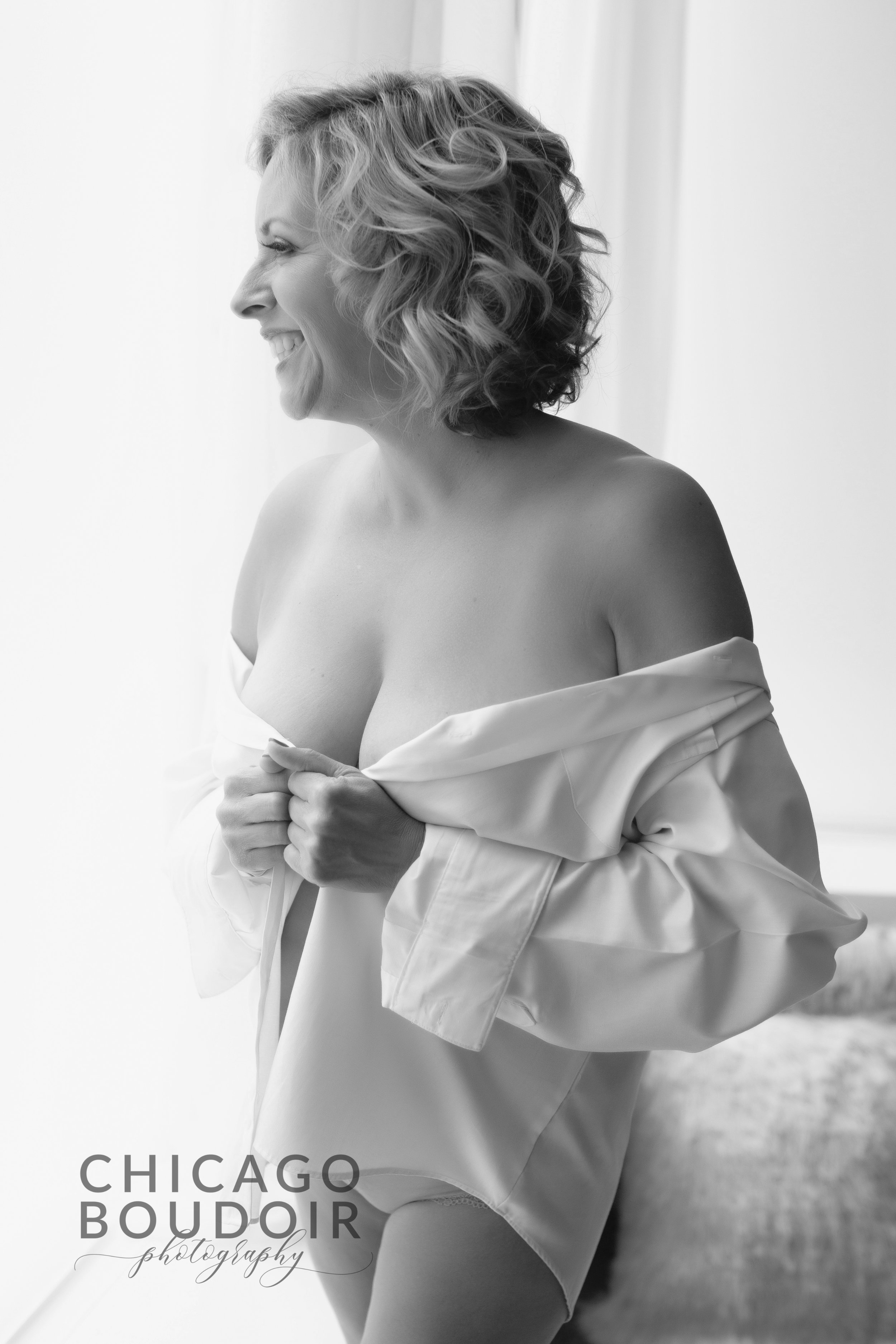 mens white shirt chicago boudoir photography