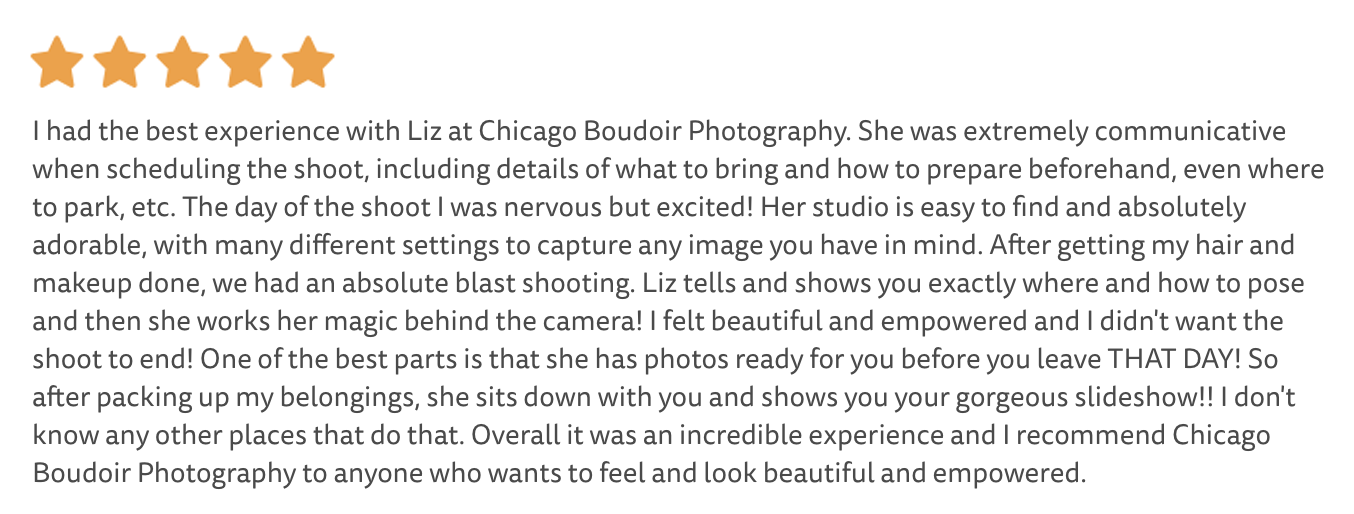 review of chicago boudoir photography