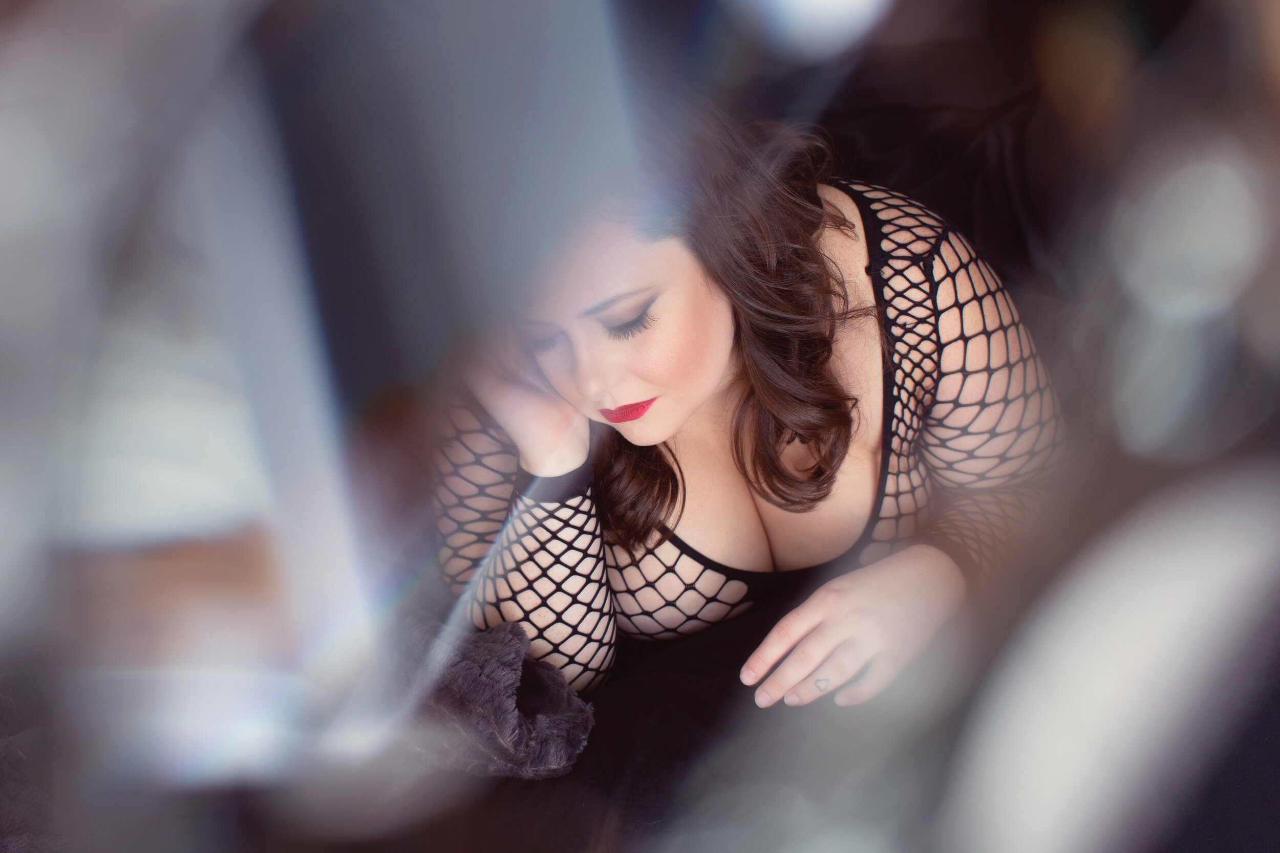 chicago boudoir photography crystal effect