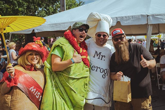 Congrats to the winners of our Pierogi Eating contest and The Chicago White Sox Pierogi Pitch and Toss! James Parton ate 24 in three minutes to win the eating contest and Matt and Andrea Michaels won the toss! #pierogifest #pierogifest25 📸: Justin Vander Waal