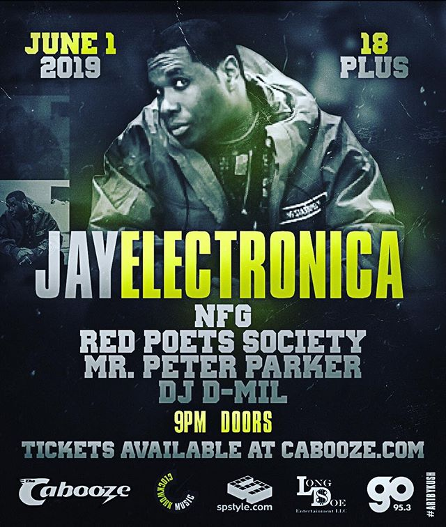 @jayelectronica June 1st at @thecabooze  18+ // 9pm $25 Pre sale // $30 Door  Tickets available online (link in bio)  Physical pre-sale tickets available at The Joint (Cabooze)  With:  Openers: @nofuxaroundgang @redpoets  Hosted by: @mrpeterparker  House DJ: @djdmil  Special guests: TBA  Art by: @kushpicasso  #minneapolis #minnesota #stpaul #jayelectronica #longdoe #spstyle #go953mn #go953 #duluth #mankatomn #uofmn