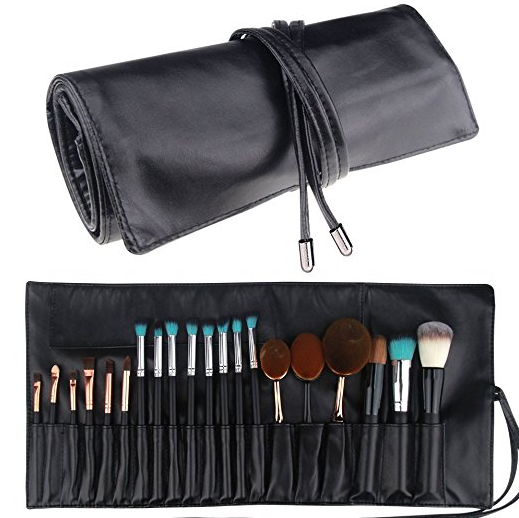 makeup brush bag - There is nothing I dread more than rummaging through my makeup bag trying to find the right brush while getting ready. I swear this bag will make your life easier. Plus, it's nice and compact so it doesn't take up room while packing.