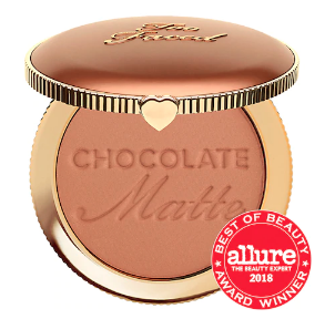 3. Chocolate Soleil - The BEST for contouring your face. It's matte and not warm (avoid warm-tones when chizzling those cheekbones!). Also smells HEAVENLY. I use the medium-deep shade.