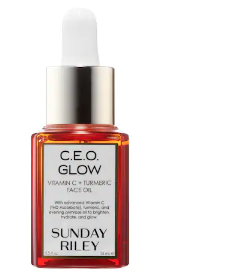CEO Glow - I received this in my Allure Beauty Box back in January and I am seriously addicted to it. I use it every night, and some mornings if I want an extra glow. This oil has seriously helped brighten up my complexion like none other. Vitamin C is necessary for your skin, and turmeric helps with redness and acne-prone skin.