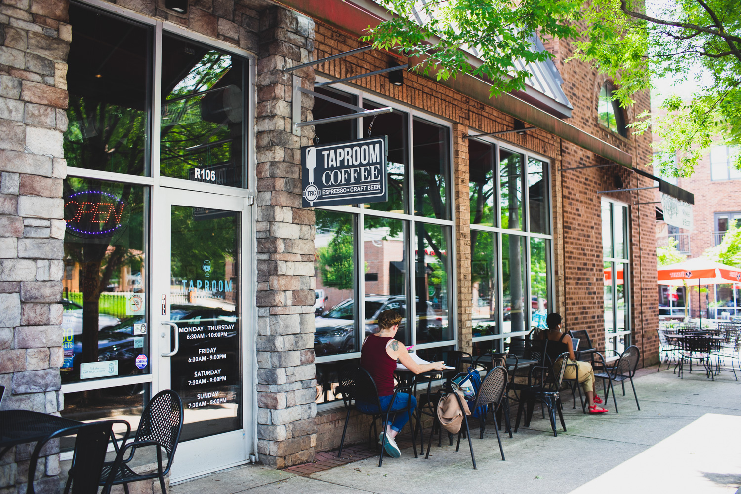 The exterior of Taproom Coffee & Beer.