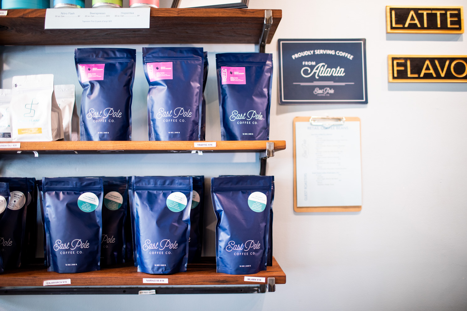 Coffee for sale from East Pole Coffee Co.