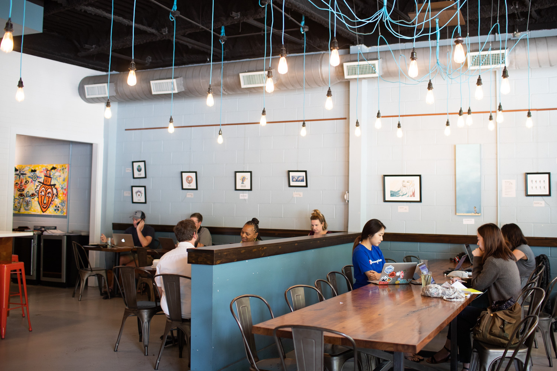 Interior of Taproom Coffee.