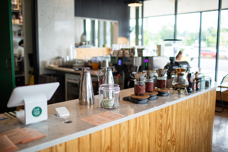 Interior of Spiller Park Coffee.