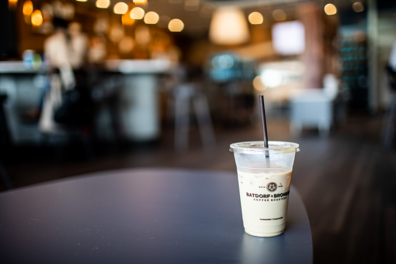 An iced Batdorf & Bronson coffee.