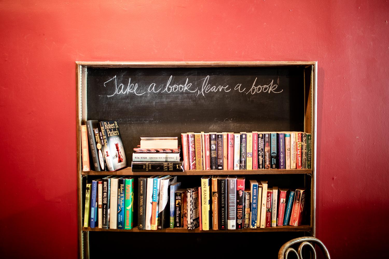 Take a book, leave a book.
