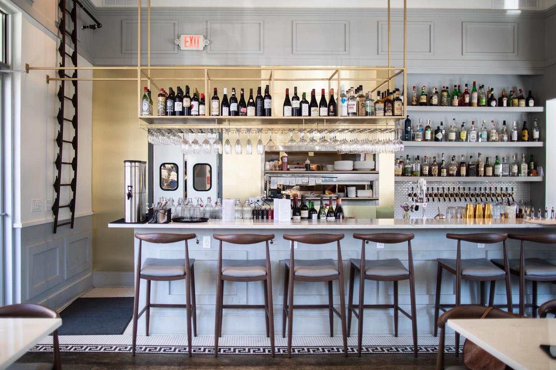 Full-service bar at Full Commission.